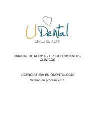 Manual de Normas y Procedimientos Clínicos - Ulacit