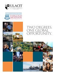 Brochure sobre el programa de doble titulación ULACIT-FDU