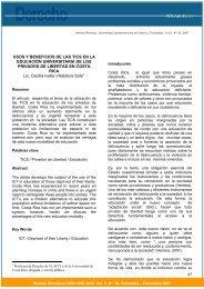 Usos y beneficios de las TICS en la educación universitaria ... - Ulacit