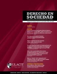 Revista Derecho en Sociedad, n.° 3 - Julio 2012 - Ulacit