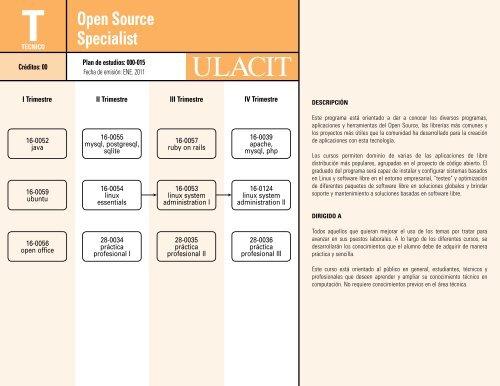 Open Source Specialist - Ulacit