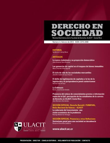 Revista Derecho en Sociedad, n.° 2 - Febrero 2012 - Ulacit
