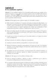 Capítulo II: De los estudiantes regulares - Ulacit