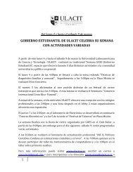1 gobierno estudiantil de ulacit celebra su semana con actividades ...
