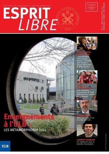 juin - juillet - aout 2012 - Université Libre de Bruxelles
