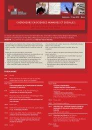 Chercheurs en sciences humaines et sociales: les citoyens