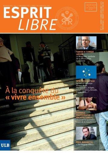 avril 2012 - de l'Université libre de Bruxelles