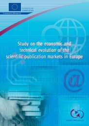 Study on the economic and technical evolution of the scientific ...