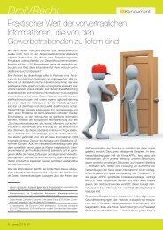 Praktischer Wert der vorvertraglichen Informationen, die von ... - ULC