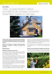 La réglementation relative aux relations de voisinage ... - ULC