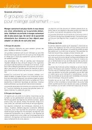 6 groupes d'aliments pour manger sainement - ULC