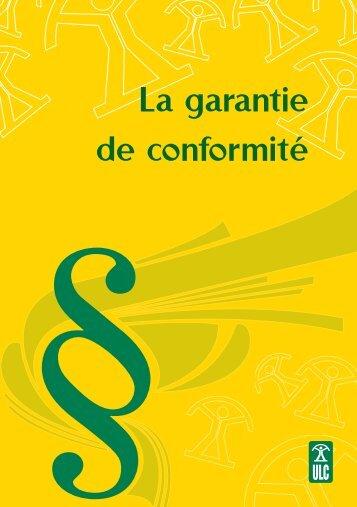 La garantie de conformité - Union luxembourgeoise des ...