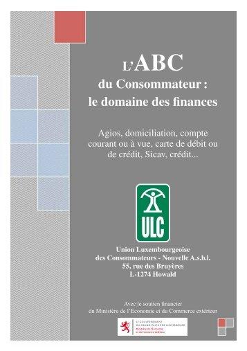 L'ABC du Consommateur : le domaine des finances - Union ...