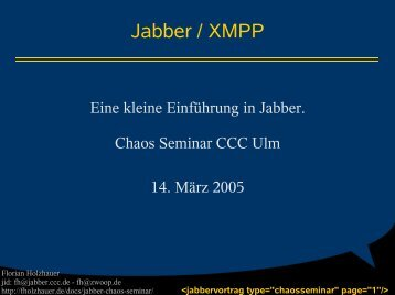 Jabber / XMPP - Ulm - CCC