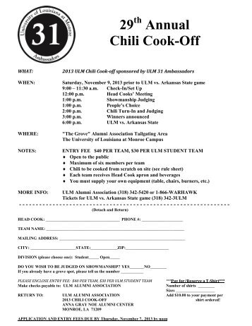 Chili Cook Off Rules Regulations Pdf Hospice Of Yuma