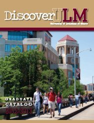 graduate catalog - University of Louisiana at Monroe