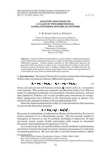 Preprint - Department of Chemistry and Biochemistry