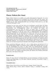 PS Platon: Politeia (Der Staat) - Ulrich Arnswald