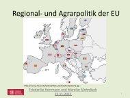 Regional- und Agrarpolitik der EU - Prof. Dr. Ulrich Menzel