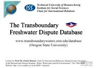 The Transboundary Freshwater Dispute Database - Prof. Dr. Ulrich ...