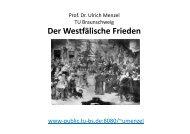 Der Westfälische Frieden - Prof. Dr. Ulrich Menzel