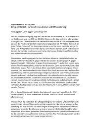 Erfolg im Handel - Ulrich Eggert Consulting.Köln