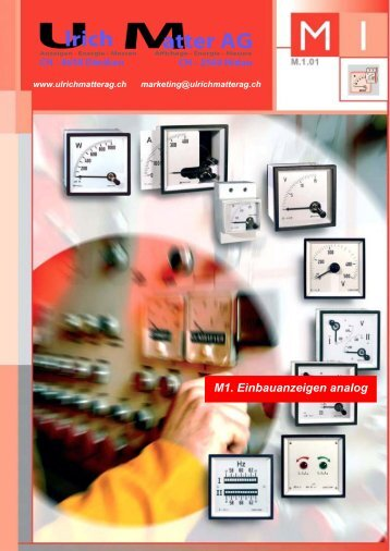 Circutor Katalog M1 Einbauanzeigen analog - Ulrichmatterag.ch