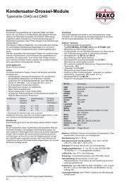 Info Frako Kondensatoren-Drossel-Module - Ulrichmatterag.ch
