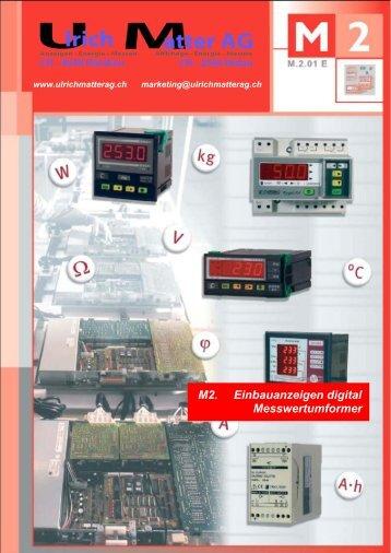 Circutor Katalog M2 Einbauanzeigen digital ... - Ulrichmatterag.ch