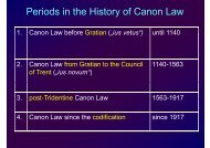 Periods in the History of Canon Law y - Ulrich Rhode