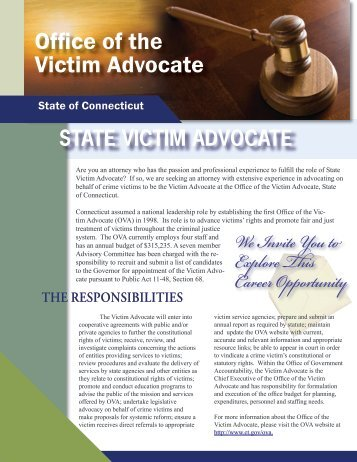 State Victim adVocate - Connecticut Department of Administration ...