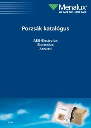 Porzsák katalógus - AEG - Electrolux