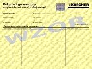 Dokument gwarancyjny - Karcher