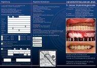 5. Jenaer Implantologierunde - Klinik und Poliklinik für Mund- Kiefer ...