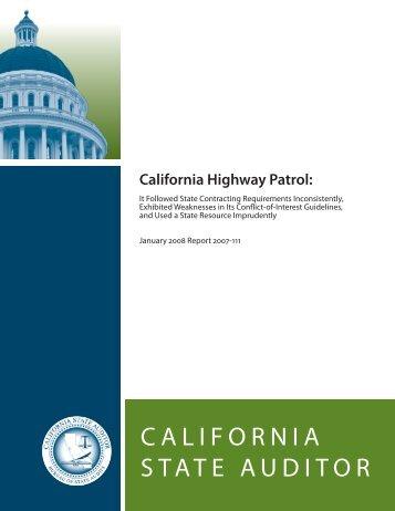 Report (PDF) - Bureau of State Audits - State of California