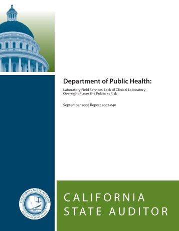 Report (PDF) - Bureau of State Audits