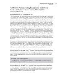 California's Postsecondary Educational Institutions - Bureau of State ...