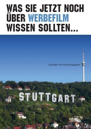Leitfaden für Filmauftraggeber - Film Commission Region Stuttgart