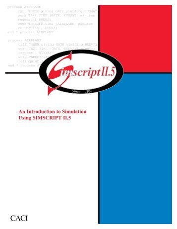 Introduction to Simulation Using SIMSCRIPT II.5