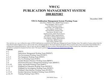 NWCG PUBLICATION MANAGEMENT SYSTEM - National Wildfire ...