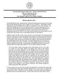 Georgia Department of Revenue – Motor Vehicle Division Title Ad ...