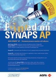 AGFA SYNAPS™ AP - Permanent pressure sensitive self-adhesive
