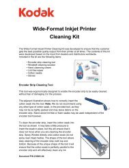 Wide-Format Inkjet Printer Cleaning Kit - Kodak