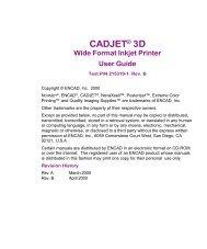 CADJET® 3D Wide Format Inkjet Printer User Guide