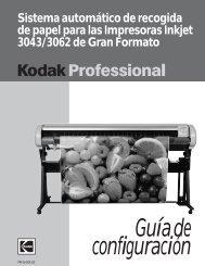 Sistema automático de recogida de papel para las ... - Kodak