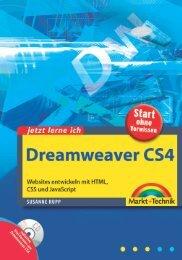 Jetzt lerne ich Dreamweaver CS4  – *ISBN 978 ...