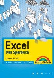 Excel – Das Sparbuch  - *ISBN 978-3-8272 ...