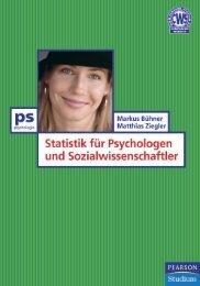 Statistik für Psychologen und Sozialwissenschaftler - Pearson Studium