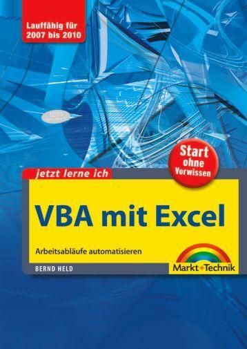 Jetzt lerne ich VBA mit Excel - Markt und Technik