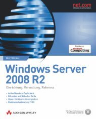 Windows Server 2008 R2  - *ISBN ... - Addison-Wesley
